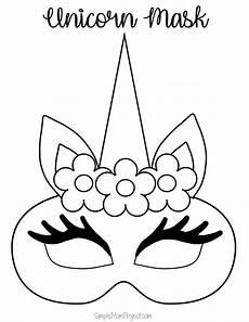 unicorn masks with free printable templates masken