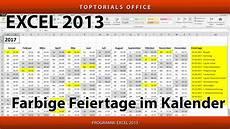 feiertage österreich 2018 feiertage im kalender farbig markieren microsoft excel