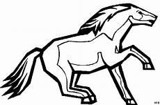 pferd mit schweif ausmalbild malvorlage tiere
