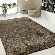 hochflor teppich shaggy hochflor shaggy teppich einfarbig braun teppich de