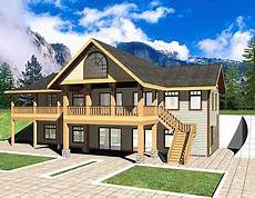 mountain house plans rear view plan 35416gh mountain home with spacious rear deck with