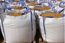 sandbag white big bag sand sacks quarry stock image
