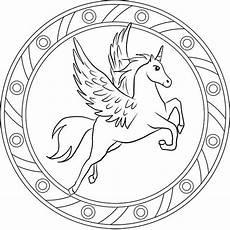 Gratis Malvorlagen Einhorn Unicorn Ausmalbilder Mandala Einhorn 05 Mandala Coloring Pages