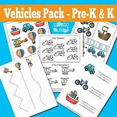 vehicles free worksheets 15173 vehicles printable preschool and kindergarten pack itsy bitsy