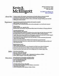 resume kevin mcelligott gra617