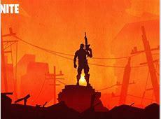 1600x900 Fortnite Warrior Silhouette In Sunset 1600x900