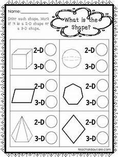 10 2 d and 3 d shapes worksheets preschool 1st grade math worksheets