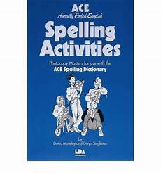 ace spelling dictionary worksheets 22366 ace spelling activities david moseley 9781855031661
