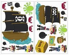 19 Teiliges Piraten Kinderzimmer Wandtattoo Set Kiddikiste