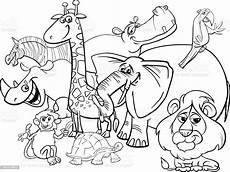 Ausmalbilder Tiere Afrika Safari Animals Coloring Page Stock Illustration