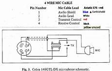 Mic Wiring Diagram For Astatic 575 M6 To Cobra Speckog