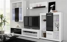 meuble salon blanc achat ensemble complet meuble mural tv moderne viki