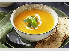 butternut pumpkin soup with ginger and coconut_image