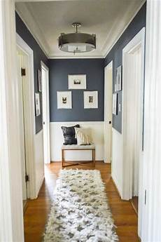 love this idea for decorating in a hallway navy upper