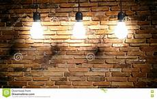 3d rendering light bulbs brick wall background stock illustration illustration of filament