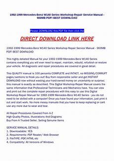 download car manuals pdf free 1992 mercedes benz e class spare parts catalogs 1992 1999 mercedes benz w140 series workshop repair service manual 900mb pdf best download by