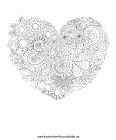 Ausmalbild Blumen Herz Herz Aus Blumen Erwachsene Ausmalen Malvorlagen Vorlagen