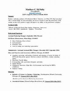 resume matt mcnulty january 2017