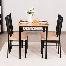 Walmart Kitchen Furniture 5 Pc Dining Set Wood Metal Table And 4 Chairs Kitchen