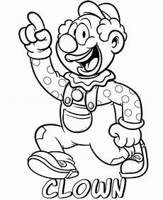clown free coloring page topcoloringpages net