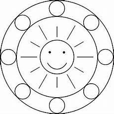 Malvorlagen Cd Mandala Vorlage Mit Der Sonne F 252 R Kinder Im Kindergarten