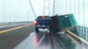 Mackinaw Bridge Trailer Blowover  YouTube