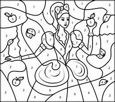 color by number princess coloring pages 18139 princess snow white printable color by number page atividades