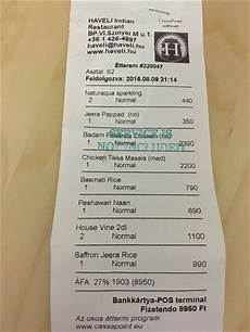 sle receipt picture of haveli indian restaurant