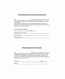 photo release form for minors generic photo release form 8 exles in word pdf