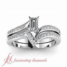 emerald cut 0 65 ct diamond cheap wedding rings for