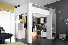 lit mezzanine adulte solide lit haut mezzanine 140x200 lits gain de place gautier