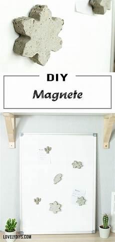 Diy Idee Individuelle Magnete Aus Beton Basteln Basteln