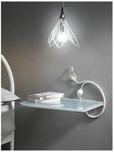 mensole comodino comodino in ferro battuto mensola con vetro ebay