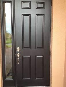 Door With by 6 Panel Fiber Glass Front Door With Chord Lite Side