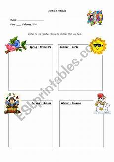 worksheets seasons and clothes 14754 clothes and seasons esl worksheet by sylvialove