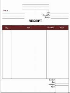 simple money receipt format in word 14 receipt templates free printable word excel