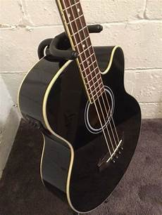 Ibanez Aeb5e Black Acoustic Electric Bass Guitar Built In
