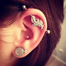 piercing industriel bijoux feather industrial earring in 2019 piercings
