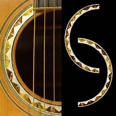 acoustic guitar decals rosette santafe purflinng sound inlay sticker decal acoustic guitar ebay