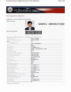 ds 160 form download ds 160 printable form fill online usa visa application download blank sle in pdf