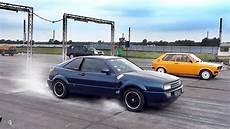 vw corrado vr6 vw corrado vr6 engine turbo sound drag race
