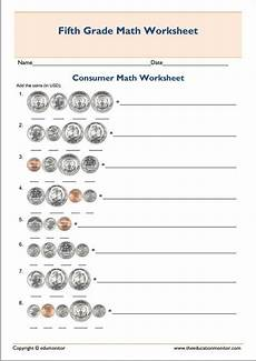 printable grade 5 consumer mathematics worksheet 5th grade worksheets math worksheets worksheets