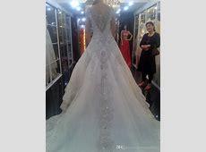 Discount 2015 Luxurious Shining Wedding Dresses Sheer Cap