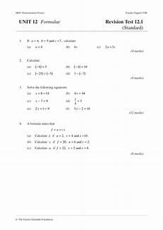 ks3 algebra formulae mep year 8 unit 12 by cimt teaching resources tes