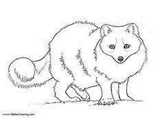 Arctic Fox Coloring Sheet Arctic Tundra Animals Coloring Pages Arctic Fox Free