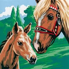einhorn und pferde malen nach zahlen doppelset vorlage
