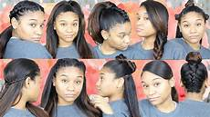 10 easy hairstyles for straight hair youtube