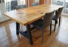 Chagrin Valley Custom Furniture Rustic Oak Dining Table