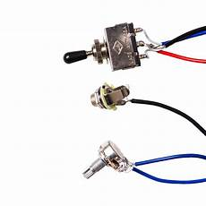 guitar wiring harness kit 2v2t 3 way switch ffor guitar parts replacement ebay