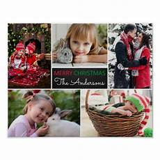 modern photo collage merry christmas poster zazzle co uk
